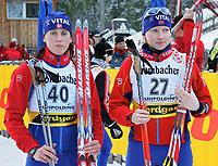 ◊Copyright:<br />GEPA pictures<br />◊Photographer:<br />Thomas Karner<br />◊Name:<br />Tjörhom<br />◊Rubric:<br />Sport<br />◊Type:<br />Ski nordisch, Biathlon<br />◊Event:<br />Biathlon Weltcup, Sprintwettkampf Frauen 7,5km<br />◊Site:<br />Ruhpolding, Deutschland<br />◊Date:<br />14/01/05<br />◊Description:<br />Gro Istad-Kristiansen (NOR), Linda Tjörhom (NOR)<br />◊Archive:<br />DCSTK-1401054064<br />◊RegDate:<br />14.01.2005<br />◊Note:<br />8 MB - MP/MP - Nutzungshinweis: Es gelten unsere Allgemeinen Geschaeftsbedingungen (AGB) bzw. Sondervereinbarungen in schriftlicher Form. Die AGB finden Sie auf www.GEPA-pictures.com.<br />Use of picture only according to written agreements or to our business terms as shown on our website www.GEPA-pictures.com.