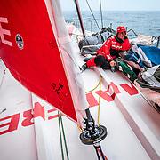 Leg 9, from Newport to Cardiff, day 08 on board MAPFRE, Tamara Echegoyen. 27 May, 2018.