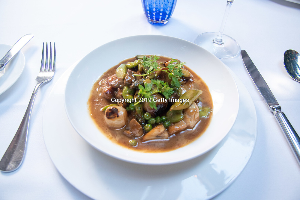 Cassolette aux ris de veau photographed at Majorelle in the Lowell Hotel in New York City on November 1st, 2019. (Photo by Kris Connor/Getty Images for OK! Magazine)