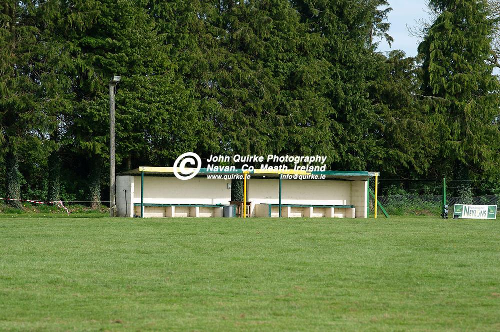 23-04-21. Ballinabrackey GAA Club Pitch and Facilities.<br />The Dugout at Ballinabrackey.<br />Photo: John Quirke / www.quirke.ie<br />©John Quirke Photography, 16 Proudstown Road, Navan. Co. Meath. (info@quirke.ie / 046-9028461 / 087-2579454).