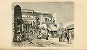 Moorish Coffee House at Sidi-Bow-Said near Tunis, Tunisia  engraving on wood From The human race by Figuier, Louis, (1819-1894) Publication in 1872 Publisher: New York, Appleton