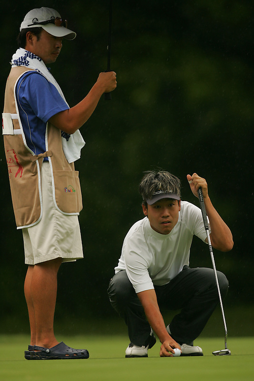 FORT WORTH, TX - MAY 26:  Kevin Na competes during the third round of the 2007 Crowne Plaza Invitational At Colonial tournament in Fort Worth, Texas at Colonial Country Club on Saturday, May 26, 2007. (Photo by Darren Carroll/Getty Images) *** LOCAL CAPTION*** Kevin Na