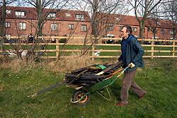 Residents volunteer to plant trees on housing association estate; Leeds Yorkshire UK