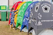 Henham Park, Suffolk, 19 July 2019. Recycling starts early - The 2019 Latitude Festival.