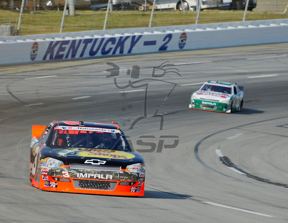 Sparta, KY - JUN 29, 2012: Austin Dillon (3) during the final practice for the Feed the Children 300 at the Kentucky Speedway in Sparta, KY.