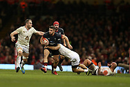 Rhys Webb of Wales © breaks through the Georgia defence.  Under Armour 2017 series Autumn international rugby, Wales v Georgia at the Principality Stadium in Cardiff , South Wales on Saturday 18th November 2017. pic by Andrew Orchard, Andrew Orchard sports photography