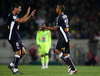 Fotball<br /> Frankrike<br /> Foto: DPPI/Digitalsport<br /> NORWAY ONLY<br /> <br /> FOOTBALL - FRENCH CHAMPIONSHIP 2008/2009 - L1 - GIRONDINS BORDEAUX v LE HAVRE AC - 28/10/2008 - JOY DAVID BELLION (BDX) WITH YOANN GOURCUFF AFTER HIS GOAL