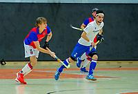 AMSTERDAM -  Charlie Plomp (SCHC)  Zaalhockey hoofdklasse, SCHC H1-Venlo H1.  COPYRIGHT KOEN SUYK