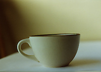 Grainy coffee cup