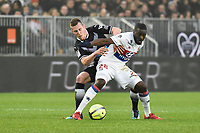 SOCCER : Bordeaux vs Lyon - Day 23 French L1 - Bordeaux - 01/28/2018<br /> Lukas Lerager (gir) vs Tangy Ndombele (ol)<br /> Norway only