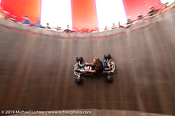 The American Motordrome Wall of Death at the annual Sturgis Black Hills Motorcycle Rally. SD, USA. August 9, 2014.  Photography ©2014 Michael Lichter.