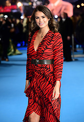 Sophie Porley attending the Aquaman premiere held at Cineworld in Leicester Square, London.