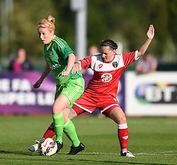 Bristol Academy's Marije Brummel tussles with Sunderland AFC Ladies' Rachel Furness  - Mandatory by-line: Paul Knight/JMP - 25/07/2015 - SPORT - FOOTBALL - Bristol, England - Stoke Gifford Stadium - Bristol Academy Women v Sunderland AFC Ladies - FA Women's Super League