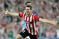 Athletic de Bilbao's Aritz Aduriz celebrates goal during Champions League 2014/2015 Play-off 2nd leg match.August 27,2014. (ALTERPHOTOS/Acero)