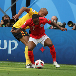 July 14, 2018 - St. Petersburg, Russia - July 14, 2018, St. Petersburg, FIFA World Cup 2018, Football match for the third place in the World Cup. Football match of Belgium - England at the stadium of St. Petersburg. Player of the national team Raheem Stirling. (Credit Image: © Russian Look via ZUMA Wire)