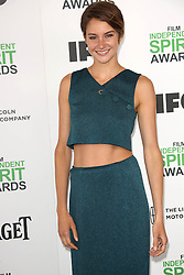 Shailene Woodley at the 2014 Film Independent Spirit Awards Arrivals, Santa Monica Beach, Santa Monica, United States, Saturday, 1st March 2014. Picture by Hollywood Bubbles / i-Images<br /> UK ONLY