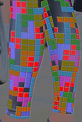 Fashion - modern colorful leggings made vivid by HDR (High Dynamic Range) post processing