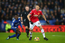 23 December 2017 -  Premier League - Leicester City v Manchester United - Nemanja Matic of Manchester United in action with Wilfred Ndidi of Leicester City - Photo: Marc Atkins/Offside