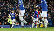 Leighton Baines of Everton celebrates scoring a penalty during the Premier League match at Goodison Park, Liverpool. Picture date: December 4th, 2016.Photo credit should read: Lynne Cameron/Sportimage
