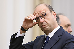 January 30, 2018 - Kiev, Ukraine - Italian Foreign Minister Angelino Alfano during meeting in Kyiv, Ukraine January 30, 2018  (Credit Image: © Maxym Marusenko/NurPhoto via ZUMA Press)