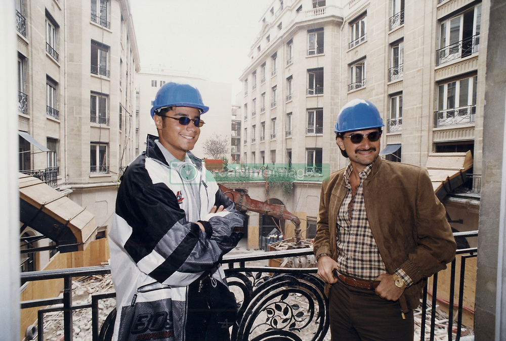 Saudi prince and billionaire Alwaleed bin Talal (or Al Waleed or Al Walid) here with his son Khaled (left) in a file photo dated September 1998 in the George V Hotel in Paris, France. News confirm the Prince was arrested with other members of Royal Family and businessmen in Riyadh on November 4, 2017. Photo by Balkis Press/ABACAPRESS.COM  | 613940_001 Paris France
