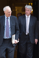 © licensed to London News Pictures. London, UK 03/06/2013. Chief Whip Sir George Young (left) and Andrew Lansley leaving Downing Street on Monday, 3 June 2013. Photo credit: Tolga Akmen/LNP