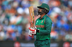 Bangladesh's Tamim Iqbal looks dejected after being bowled by India's Kedar Jadhav during the ICC Champions Trophy, semi-final match at Edgbaston, Birmingham.