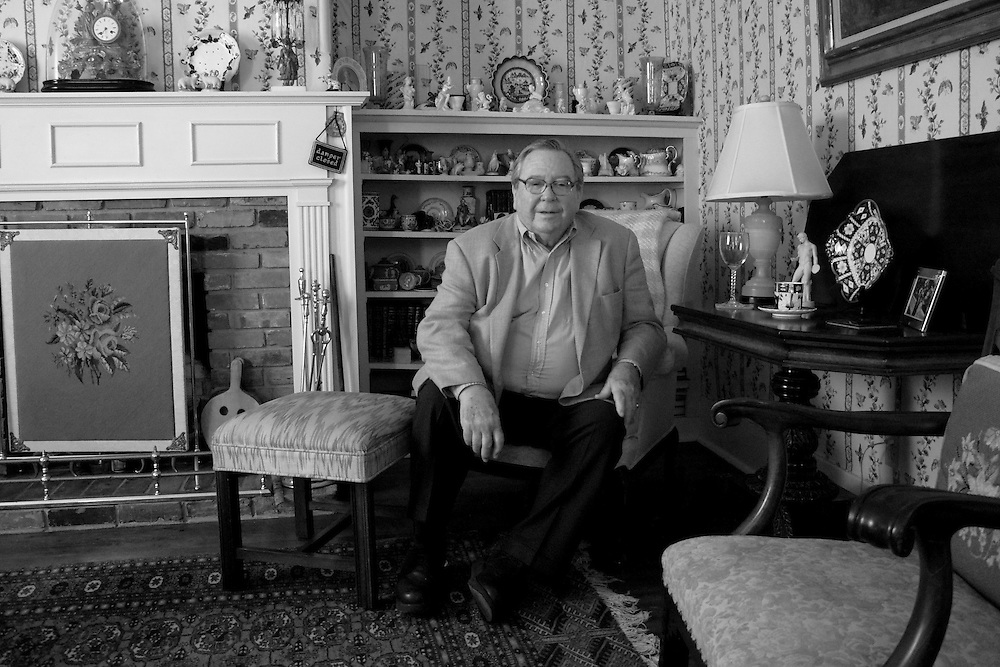 William T. Cocke (professor of English emeritus at Sewanee: the University of the South) in his home.