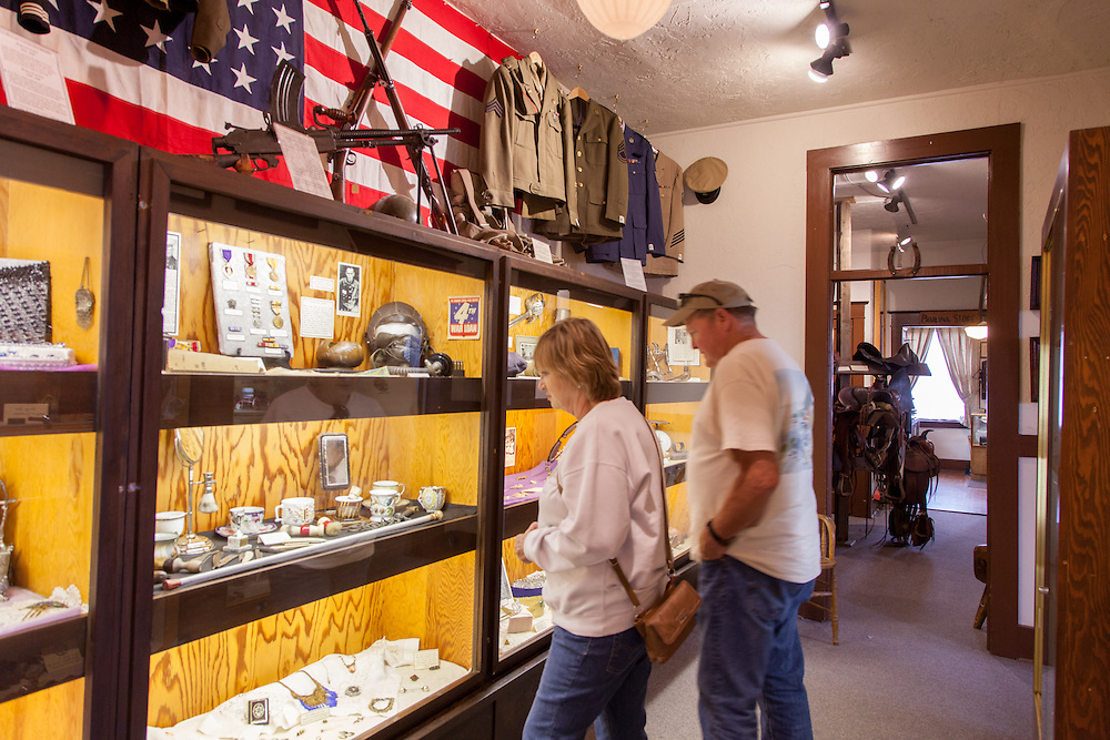 Historic displays at Bowman Museum in Prineville, Oregon