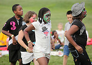 Middletown, New York - Children from the Middletown YMCA summer camp perform during a talent show for parents and other campers on August 17, 2010.