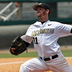 June 03, 2011; Tallahassee, FL, USA; UCF Knights Johnny Sedlock (31) pitches in relief during the seventh inning against the Alabama Crimson Tide during the 2011 Tallahassee Regional at Dick Howser Stadium. Alabama defeated UCF 5-3.  Mandatory Credit: Derick E. Hingle