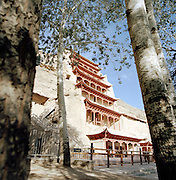 The Mogao grottoes, or caves, Silk Route, Dunhuang, Jiuquan, Gansu Province, China
