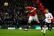 Nemanja Matic of Manchester United (L) in action. Premier league match, Tottenham Hotspur v Manchester Utd at Wembley Stadium in London on Wednesday 31st January 2018.<br /> pic by Steffan Bowen, Andrew Orchard sports photography.