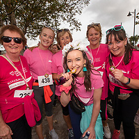 REPRO FREE<br /> Bride to be Maureen O'Regan from Belgooly pictured on her hen with Angela Foley, Maeve O'Regan, Ger Coleman, Miriam Coleman and Valerie O'Regan pictured at the 2019 Kinsale Pink Ribbon Walk in aid of the Irish Cancer Society Action Breast Cancer.<br /> Picture. John Allen