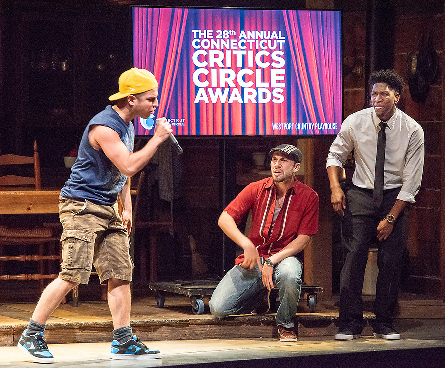 """Photography ©Mara Lavitt<br /> June 11, 2018<br /> <br /> Playhouse on Park cast members of """"In the Heights"""" perform at the 28th Annual Connecticut Critics Circle Awards, Westport Country Playhouse."""