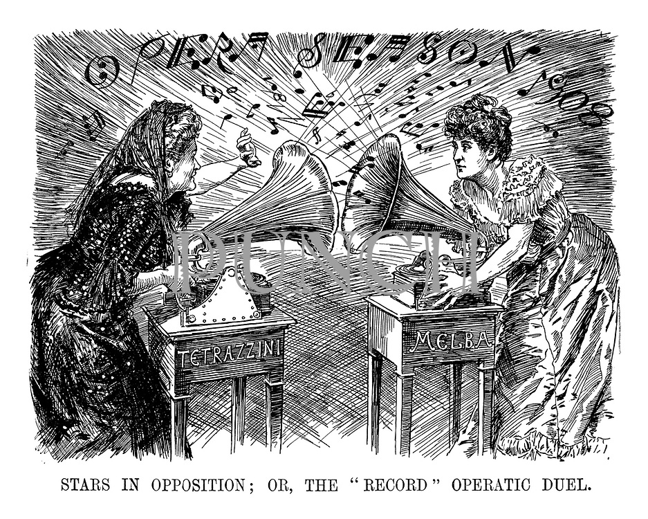 """Stars in Opposition; Or, The """"Record"""" Operatic Duel."""