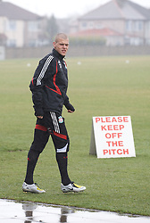 LIVERPOOL, ENGLAND - Friday, March 28, 2008: Liverpool's Martin Skrtel training at Melwood ahead of the Merseyside Derby match against Everton. (Photo by David Rawcliffe/Propaganda)