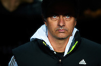BARCELONA, SPAIN - JANUARY 25: Head Coach Jose Mourinho of Real Madrid during the Copa del Rey quarter final match between Barcelona and Real Madrid at Estadio Nou Camp on January 25, 2012 in Barcelona, Spain.. (Photo by Manuel Queimadelos)