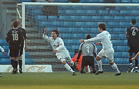 Fotball<br /> Foto: SBI/Digitalsport<br /> NORWAY ONLY<br /> <br /> MK Dons v Wrexham <br /> Coca Cola league One. 11/12/2004.<br /> <br /> Nick Rizzo celebrates his goal for MK Dons.