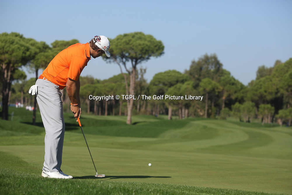 Peter UIHLEIN (US) during fourth round Turkish Airlines Open by Ministry of Culture and Tourism 2013,Montgomerie Course at Maxx Royal,Belek,Antalya,Turkey.