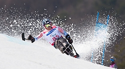 March 14, 2018 - Pyeongchang, South Korea - Stephen Lawler of the US during Giant Slalom competition Wednesday, March 14, 2018 at the Jeongson Alpine Center at the Pyeongchang Winter Paralympic Games. Photo by Mark Reis (Credit Image: © Mark Reis via ZUMA Wire)