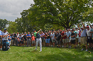 Jordan Spieth (USA) hits his second shot on 1 during 1st round of the 100th PGA Championship at Bellerive Country Club, St. Louis, Missouri. 8/9/2018.<br /> Picture: Golffile | Ken Murray<br /> <br /> All photo usage must carry mandatory copyright credit (© Golffile | Ken Murray)