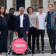 London,England,UK, 22th July 2016 : Jessie Ware, Tinchy Stryder ,The Vamps join the Mayor of London Sadiq Khan Launch of International Busking Day '#LondonIsOpen' in Trafalgar Square, London, UK. Photo by See Li