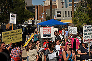 """About 1,000 demonstrators participated in Occupy Tucson at Military Plaza in Armory Park, Tucson, Arizona, USA.  The Occupy Tucson organizers created the movement in solidarity with the Occupy Wall Street movement in New York and the Occupy Together movement across the USA. ..The leaders of this movement are the everyday people participating in a movement with many de-centralized goals, with an over-arching theme of protesting government corruption from corporate money and national income disparity. We use a tool called the """"General Assembly"""" to facilitate open, participatory and horizontal organizing between members of the public. We welcome people from all colors, genders and beliefs to participate in our movement. .."""
