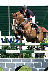 "Pearce John (CAN) - Harry Potter<br /> ""National"" - Spruce Meadows 2001<br /> © Hippofoto - Peter Llewellyn"