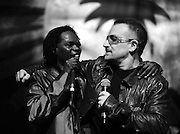 Baaba Maal and Bono in perform at the Island 50 concerts Hammersmith Empire - London 2009