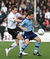 Photo:Mark Stephenson,Hereford united v Port vale.<br />fa cup 2-11-2006.Vales Paul Harsley on t he ball.