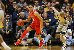 Feb 26, 2018; Morgantown, WV, USA; Texas Tech Red Raiders guard Zhaire Smith (2) dribbles the ball up the floor during the first half against the West Virginia Mountaineers at WVU Coliseum. Mandatory Credit: Ben Queen-USA TODAY Sports