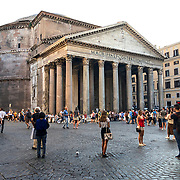 The Pantheon is Rome's most intact ancient ruin and a major tourist attraction.