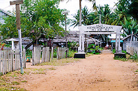 Kalimantan, Tanjung Datu. Small village close to the Malaysian border. The sign says something like; Congratulations with 52 years of independence of Republik Indonesia 1945-1997.
